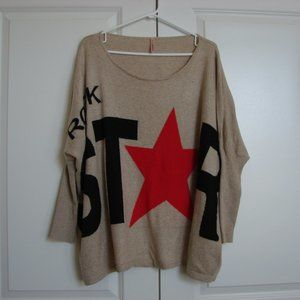 Sweewe Paris Rock Star Oversize Comfy Sweater